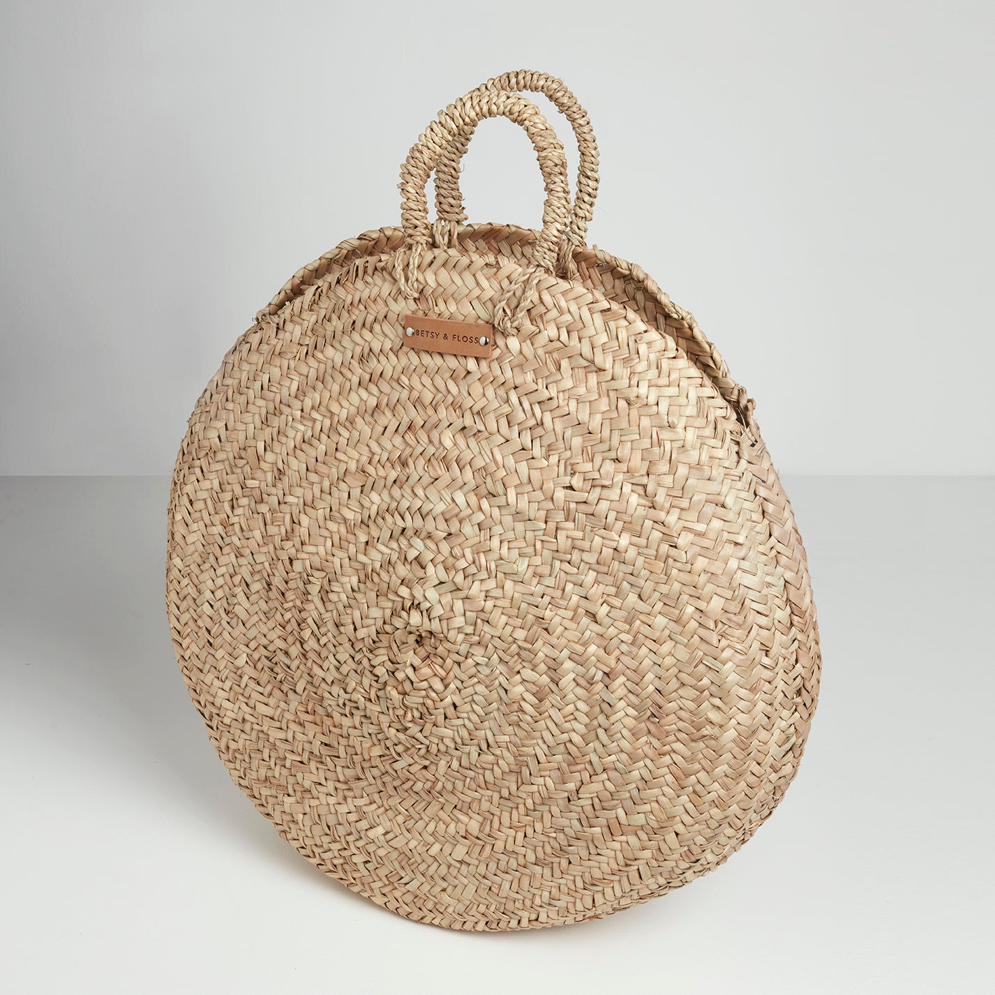 Tivoli Large Round Basket Bag | Betsy & Floss