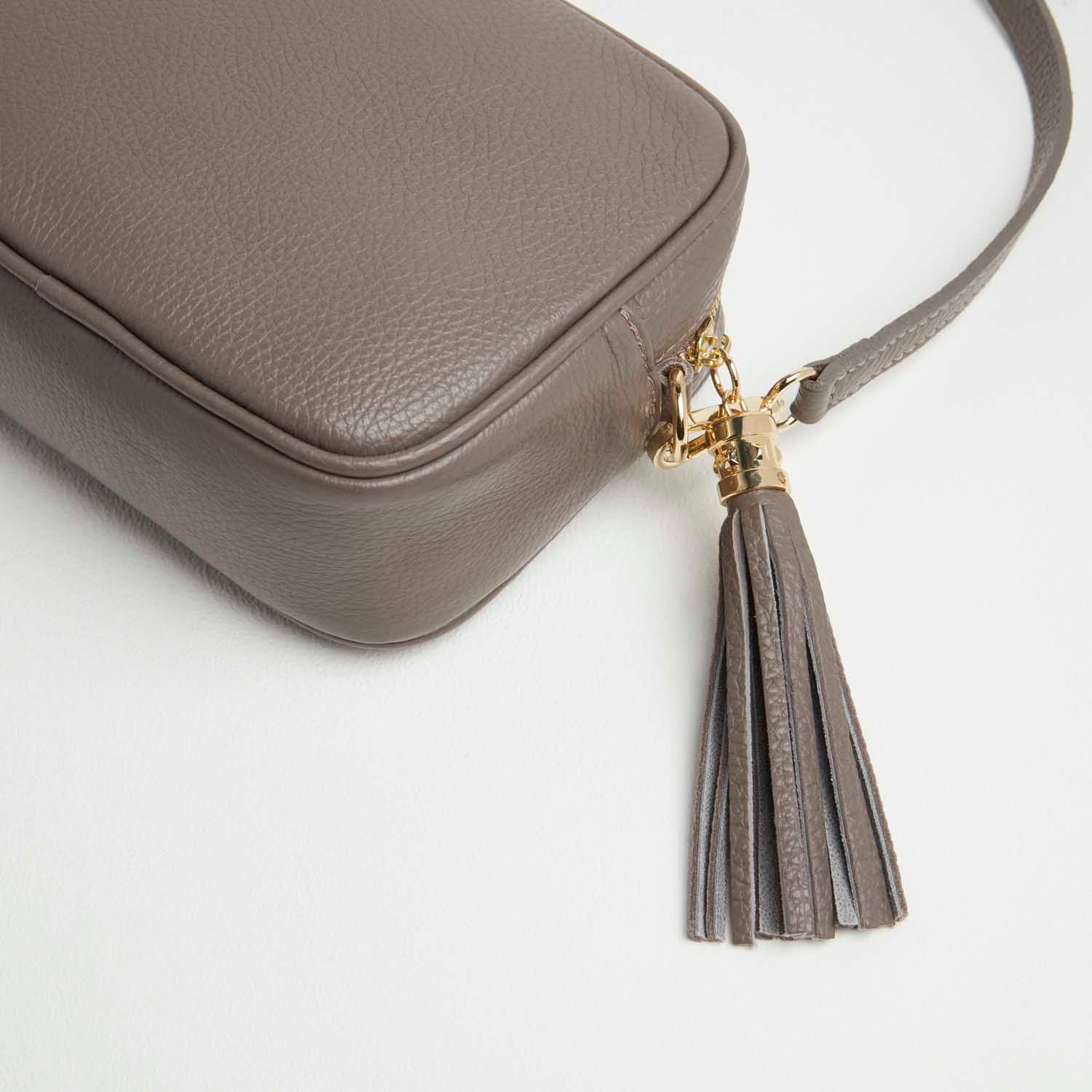 Verona Crossbody Tassel Cinder Bag with Pastel Strap