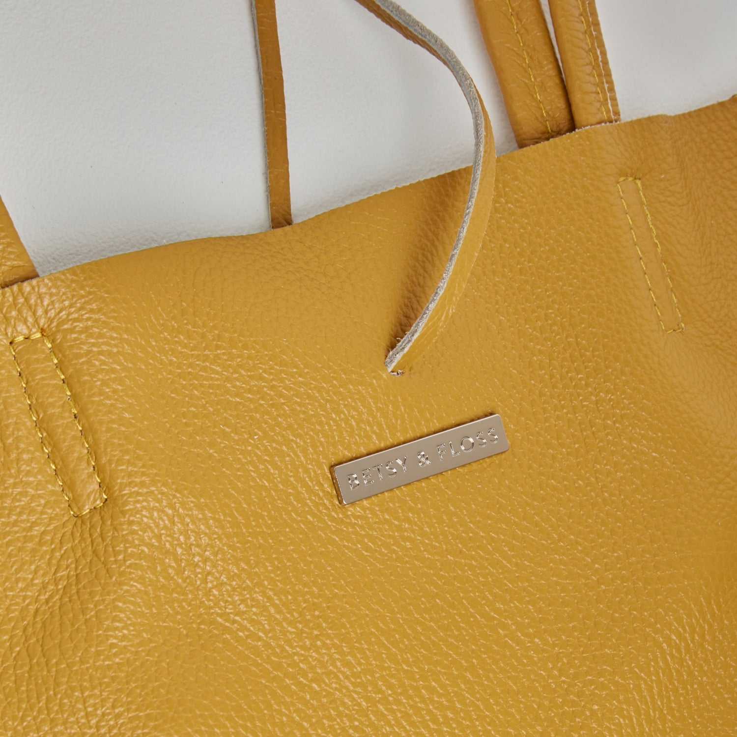 Milan - Soft Leather Tote Bag in Mustard Yellow
