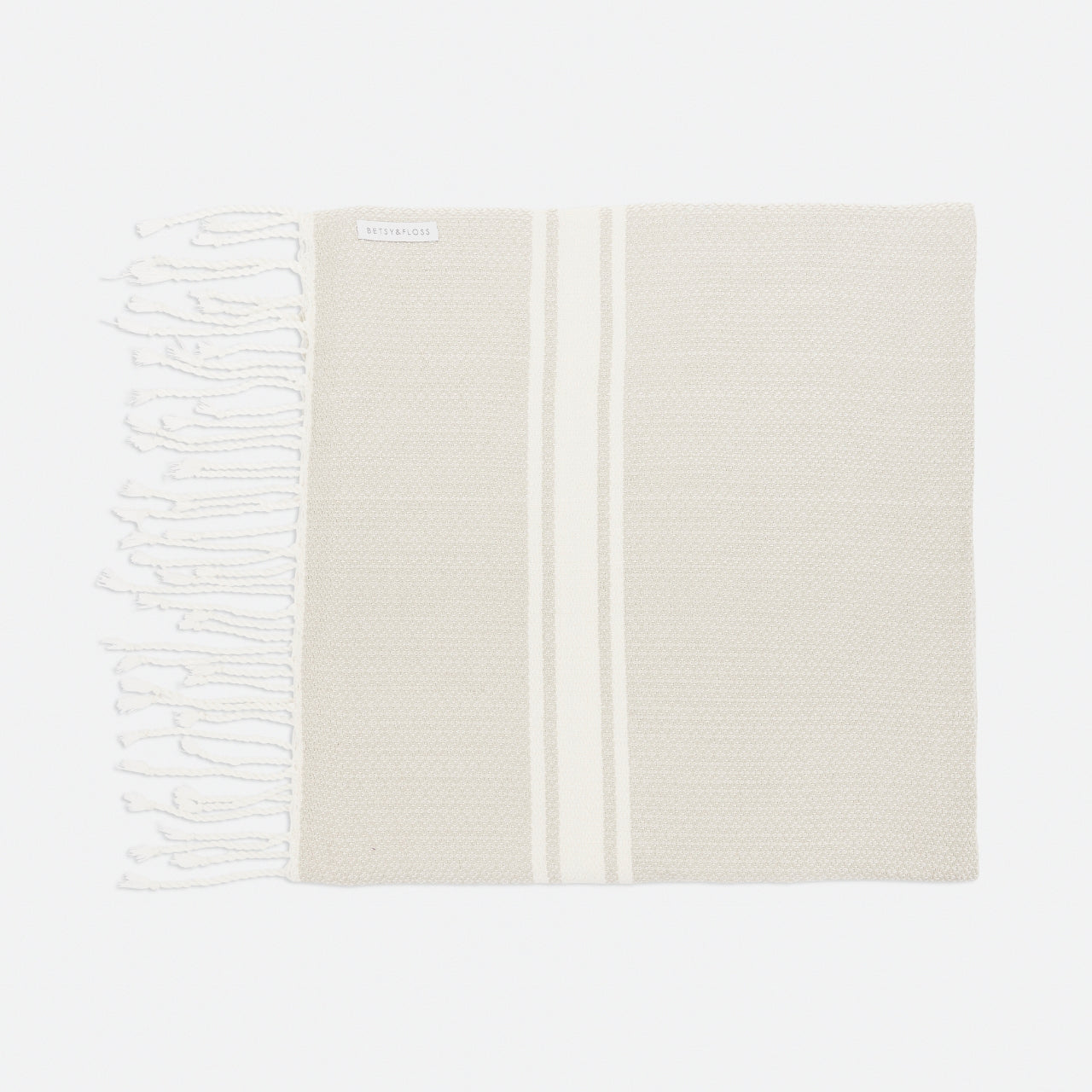 Beige Foutas Beach Towel
