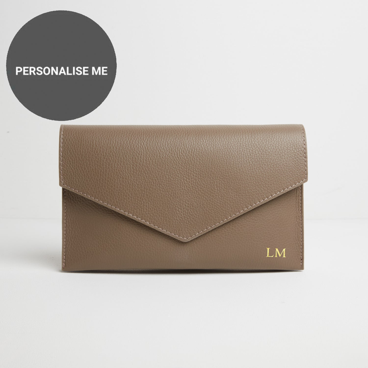 Puglia Clutch Bag in Taupe