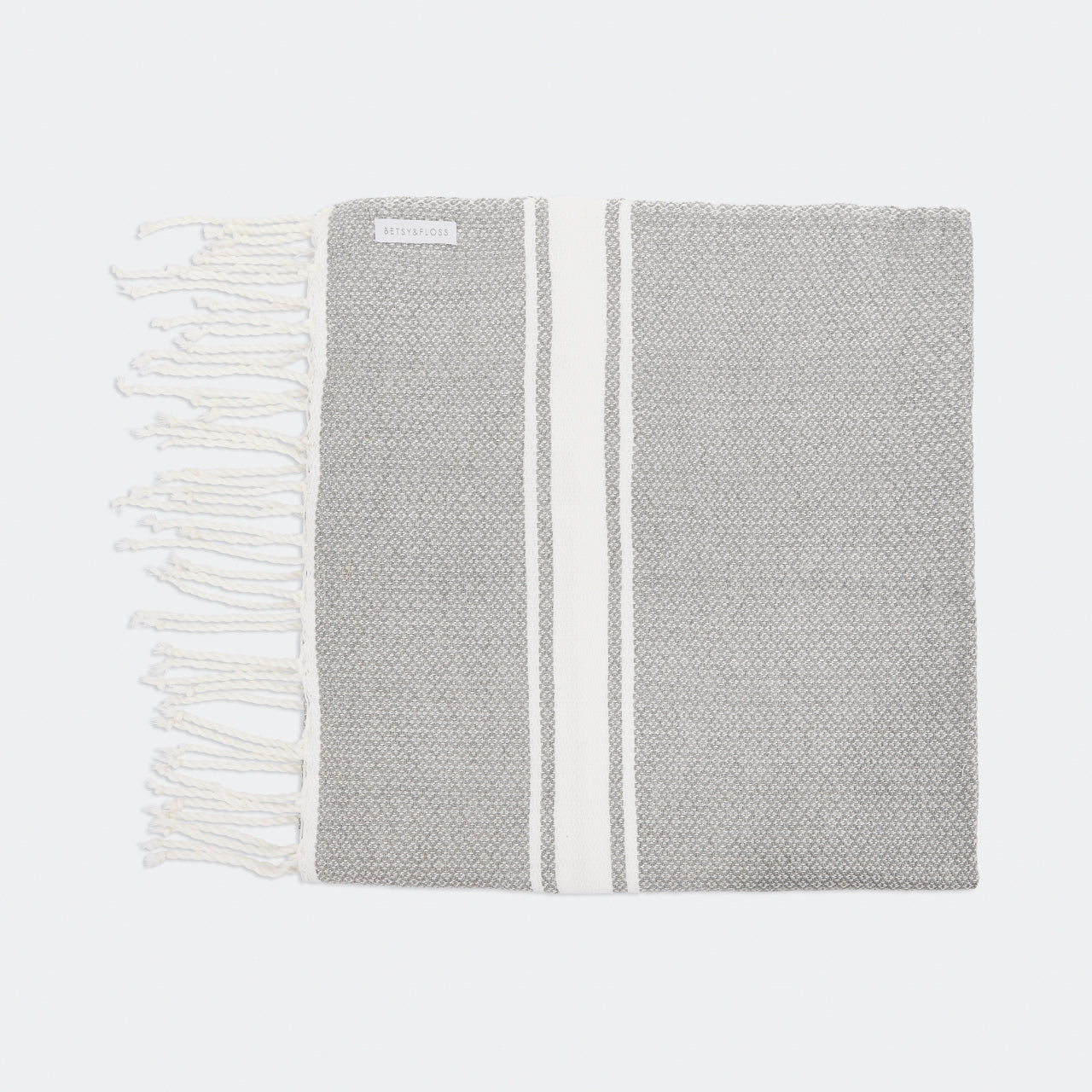 Light Grey Fouta Beach Towel