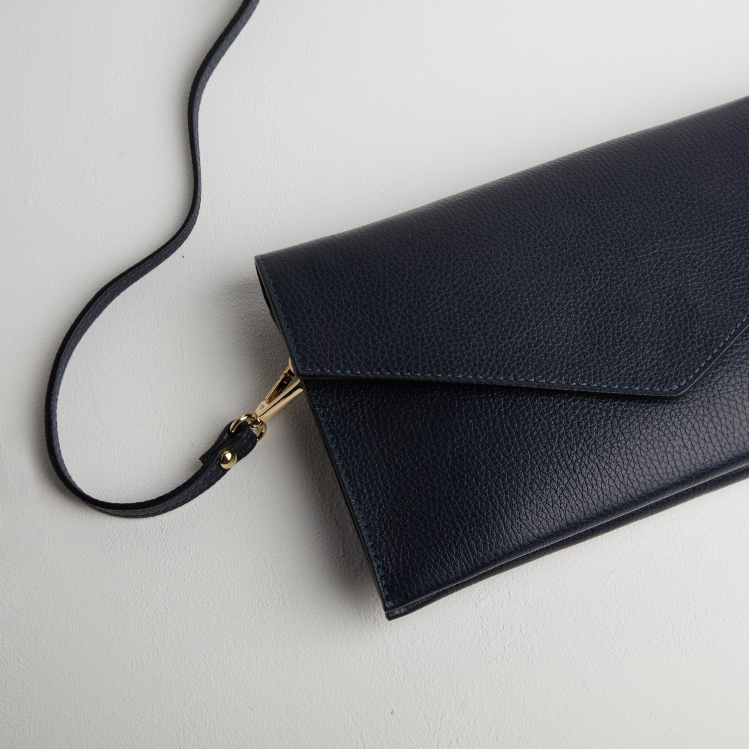 Puglia Clutch Bag in Navy Blue
