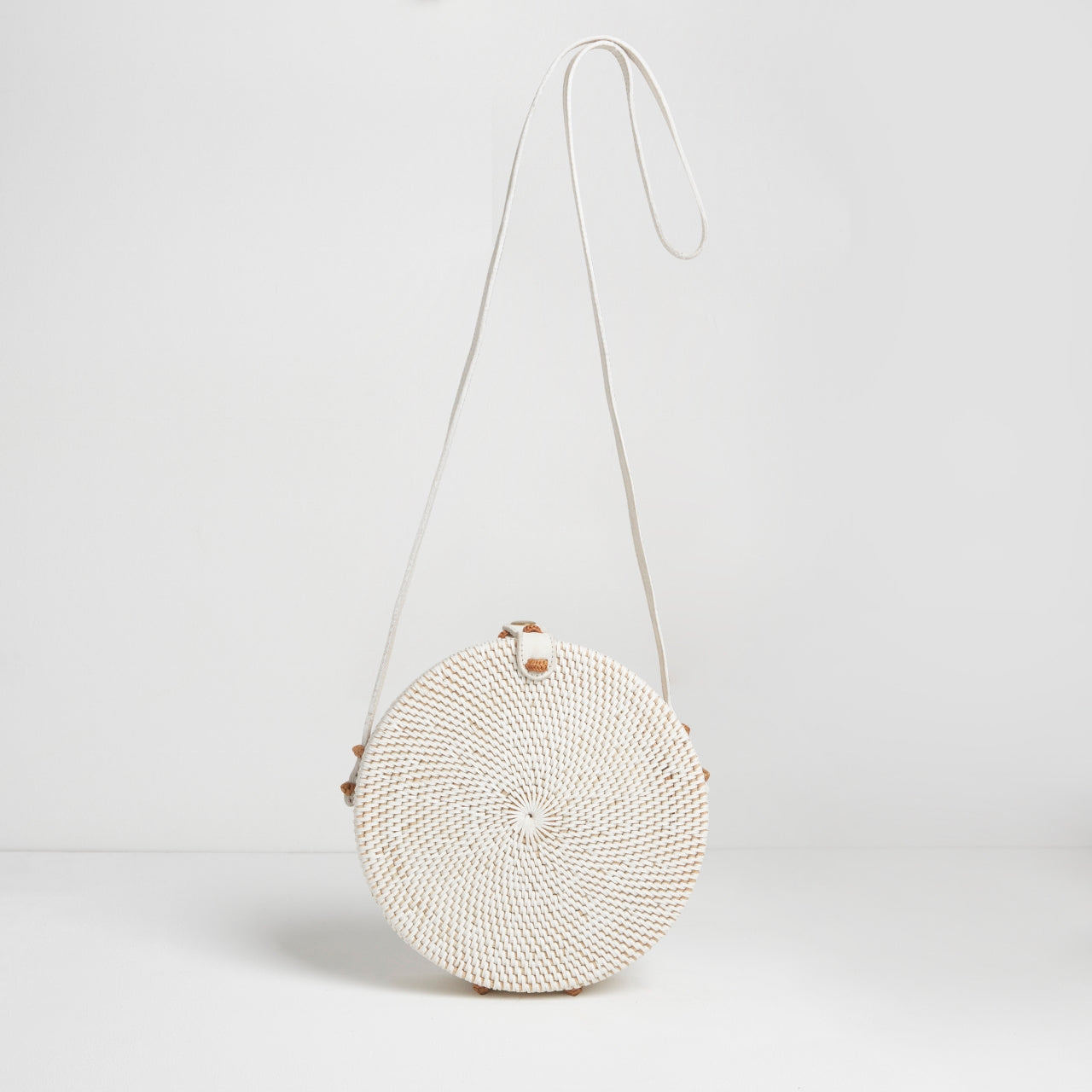 Santorini Round Basket Bag