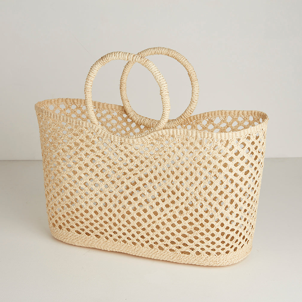 Lisla Straw Basket Bag
