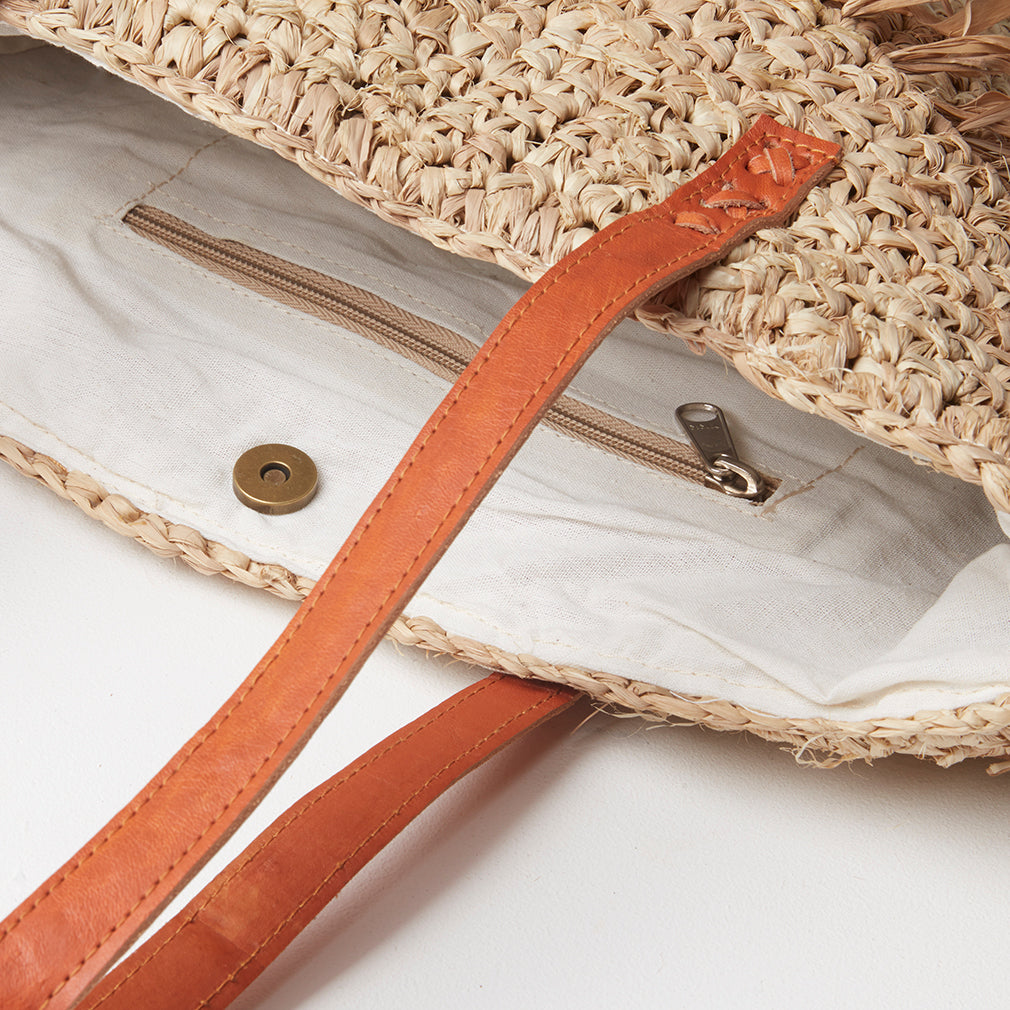 Cannes Basket Bag Strap Detail | Betsy & Floss