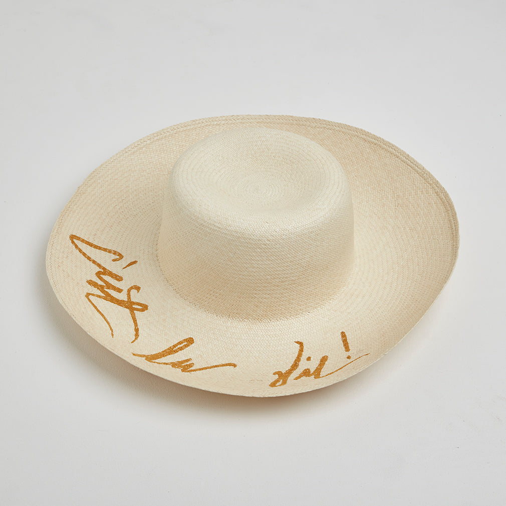 C'est La Vie Straw Hat | Betsy and Floss