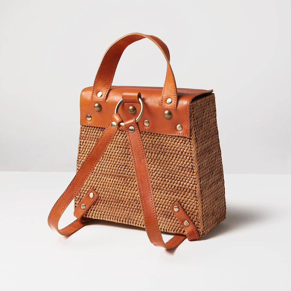 Luxor Basket Backpack, Reverse | Betsy & Floss