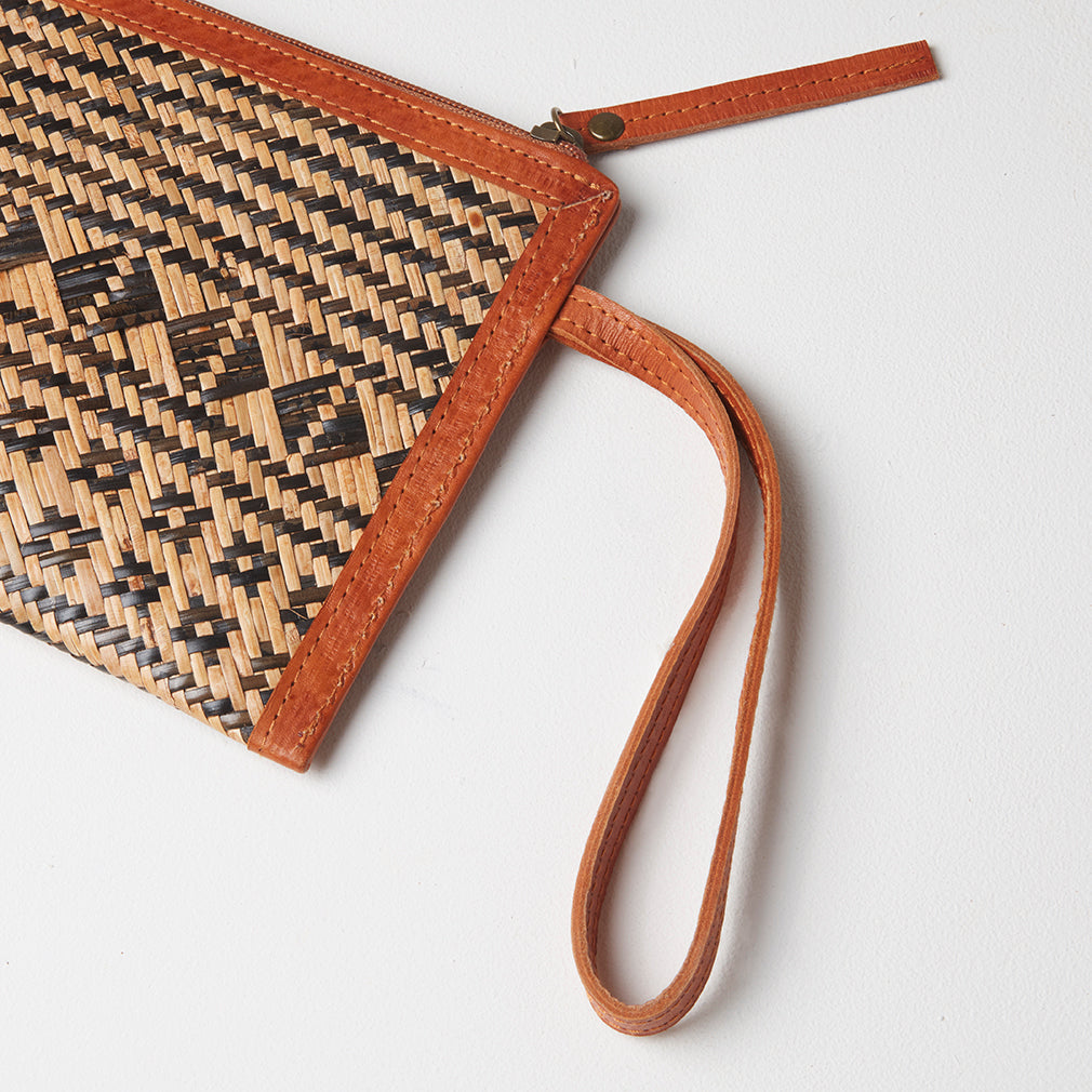 Samui Clutch Bag, Strap Detail | Betsy & Floss