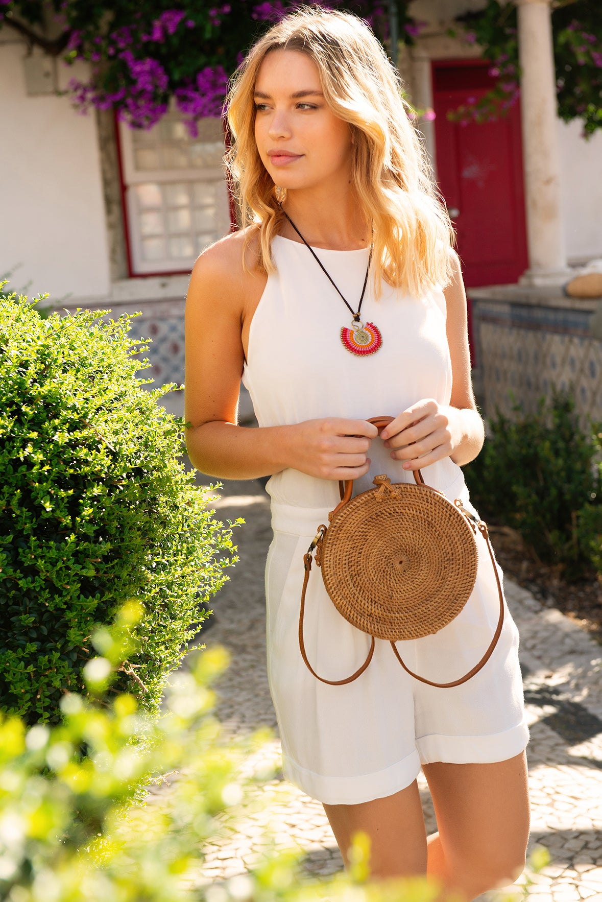 Statement Necklace in Red Mix