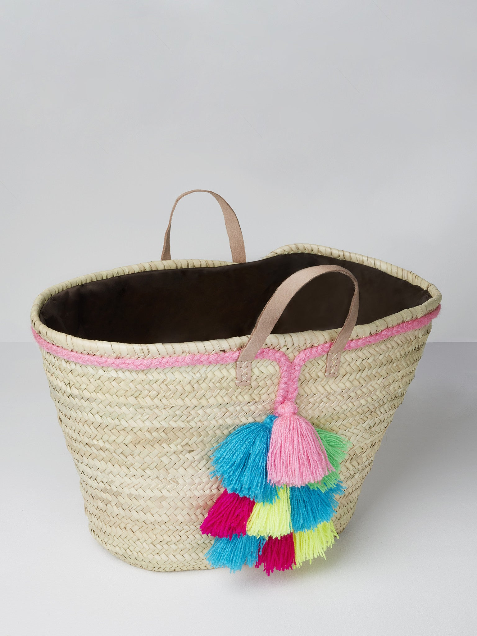 Coachella Basket Bag with Colourful Tassels | Betsy and Floss