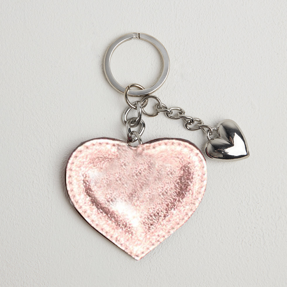 Heart Leather Keyring
