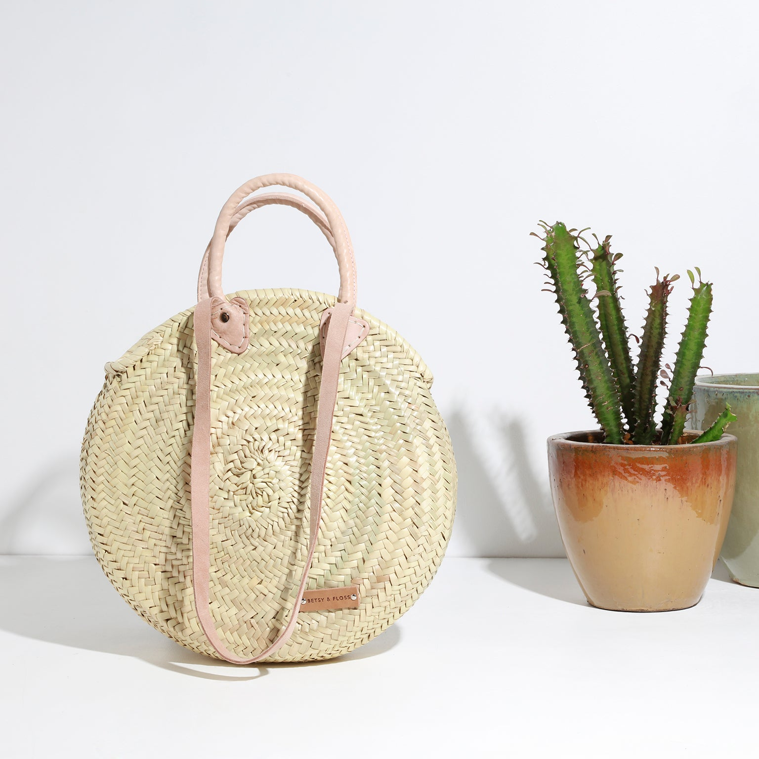 Mykynos Medium Basket Bag, Front View | Betsy & Floss