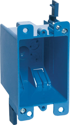 Carlon  4-1/8 in. Rectangle  PVC  Outlet Box  Blue