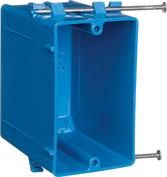 Carlon  3-3/4 in. Rectangle  PVC  1 gang Outlet Box  Blue