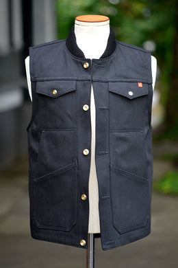 Wray Vest - Black Denim