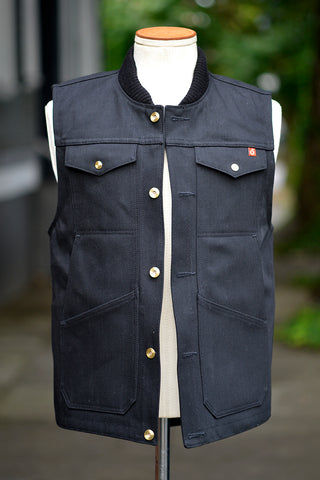 Wray Vest - Black Denim *Deposit*