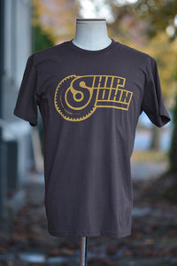 Ship John Dirt Bike Tee Tee - Brown