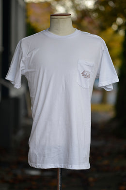 Kyler Martz x Ship John Knife Pocket Tee - White / Rust