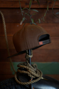 Trucker Hat - Brown Twill w/ Squid Patch