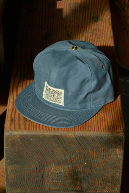 Waxed Wills Hat - Slate Blue