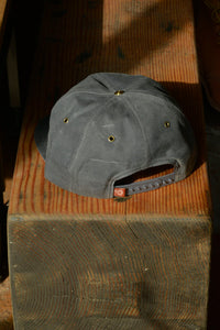 Waxed Wills Hat - Charcoal