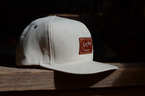 Natural duck canvas/foam cap