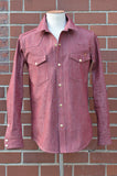 Townes Western Shirt - Red Chambray