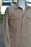Townes Western Shirt - Tan Selvedge Twill