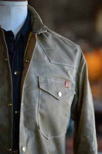 Townes Western Shirt - Tan Waxed Canvas