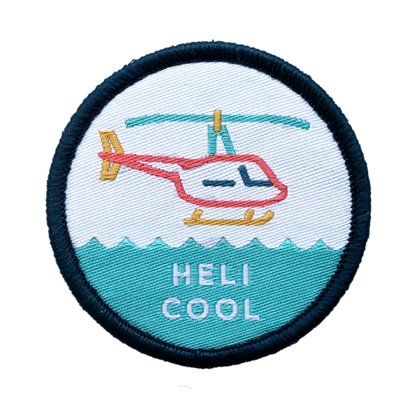 JW Helicopter Velcro Patch