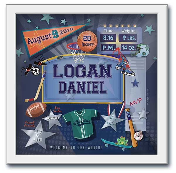 All-Star Sports Personalized Wall Art