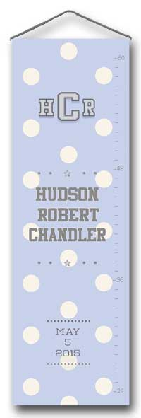 Growth Chart- Bold Dots on Light Blue