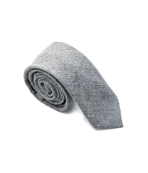 Better Fellow Monument Grey Houndstooth Wool Tie