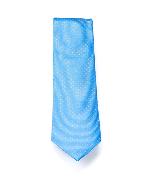 Better Fellow Charlie Bright Blue Dotted Silk Men's Fashion Slim Tie