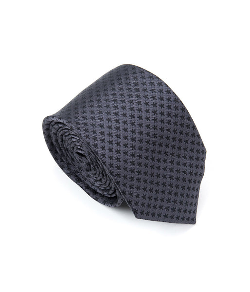 Better Fellow Jack Textured Black and Gray Silk Men's Fashion Slim Tie