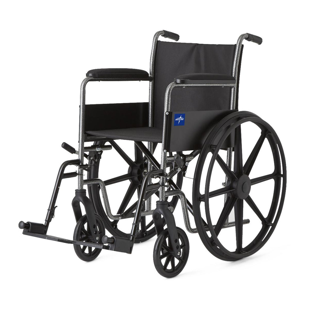 "K1 Basic Wheelchairs (WHEELCHAIR, K1 BASIC, 18"", PERM FLA, S / AFOOT)"