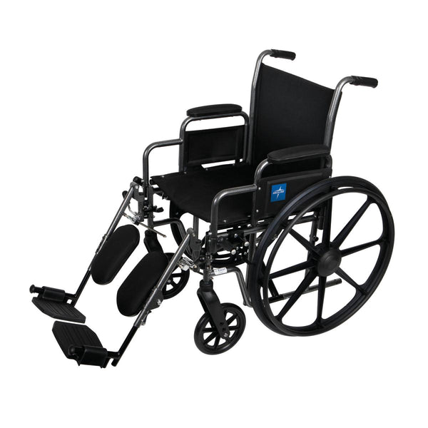 "K1 Basic Wheelchairs (WHEELCHAIR, K1 BASIC, 18"", DLA, ELR FOOT)"