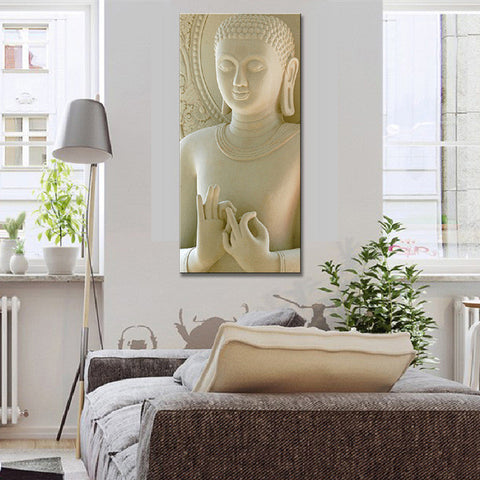 White Marble Buddha Canvas Picture Modern Wall Paintings