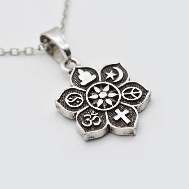 10pcs coexist tibetan silver lotus pendant om necklace sunetra 10pcs coexist tibetan silver lotus pendant om religious belief necklace for women men fashion jewelry sgl221 aloadofball Images