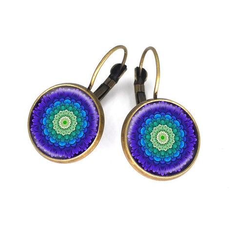 Charm Mandala Earrings Bronze Earring-Sunetra