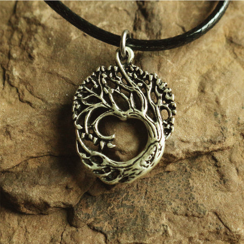 1pcs Tree Of Life Pendant  Antique Silver Vintage Necklace-Sunetra
