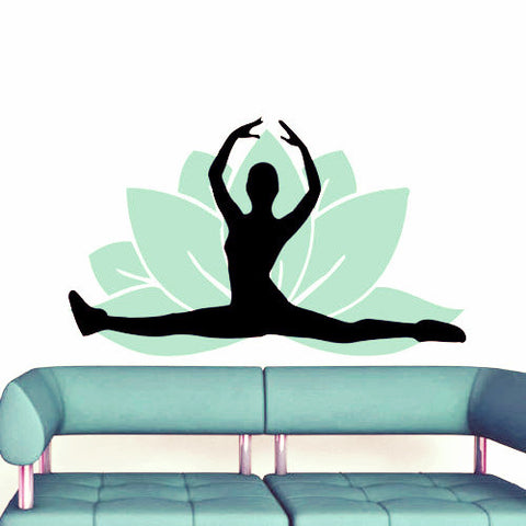 2 pcs/set Lotus Flower Yoga Wall Sticker-Sunetra