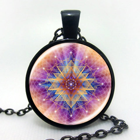 2016 Flower Of Life Art Photo zen Pendant Necklace charms Glass Cabochon Necklace Yoga Jewelry Lucky Amulet B3-Sunetra