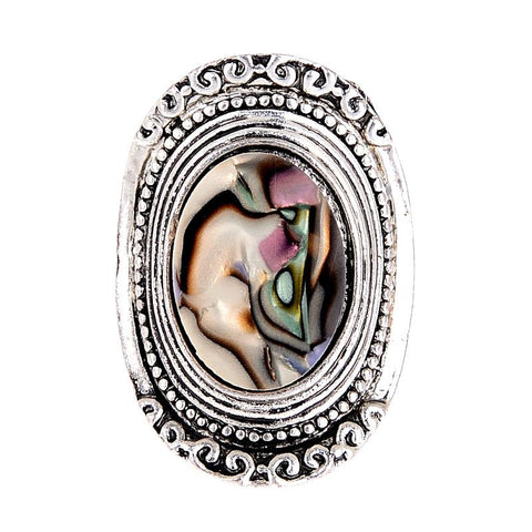 Unique AntiqueAbalone Shell Rings ~ Bohemia Style-Sunetra