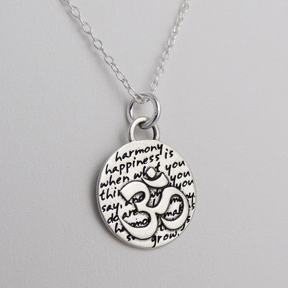 20pcs Inspirational OM ~ Charm Necklace15mm