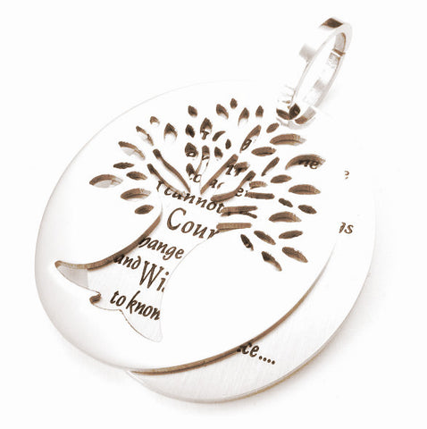 43*34mm stainless steel pendant necklaces ~The tree of life letters necklace-Sunetra