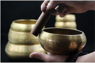 Copper Buddha Sound Bowl  ~Yoga Tibetan Singing Bowl  Copper