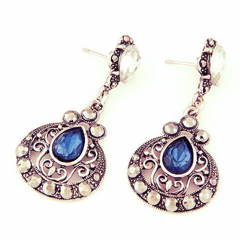 Antique Ethnic Brincos Femme Created Gemstone Drop Earrings-Sunetra