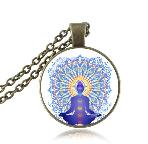 Avalokiteshvara statue pendant,golden Thousand Armed Avalokiteshvara necklace Buddha necklace india Hindu jewelry Zen pendant 8-Sunetra